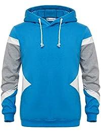 e8f1347d67dd GLESTORE Sweat-Shirt à Capuche Homme Manches Longues Hiver Slim Fit Noir  Bleu Marron