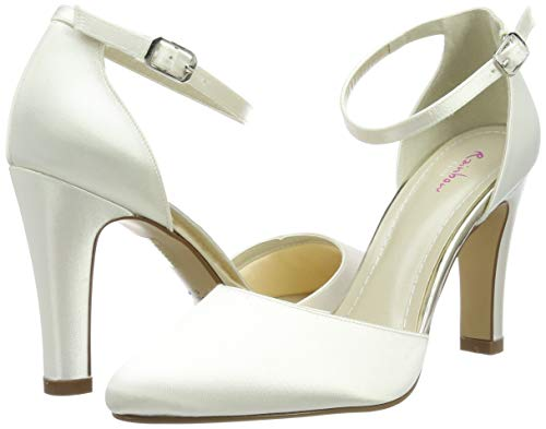 Rainbow Club Brautschuhe Dana – Ivory Satin – Pumps Damen - 5
