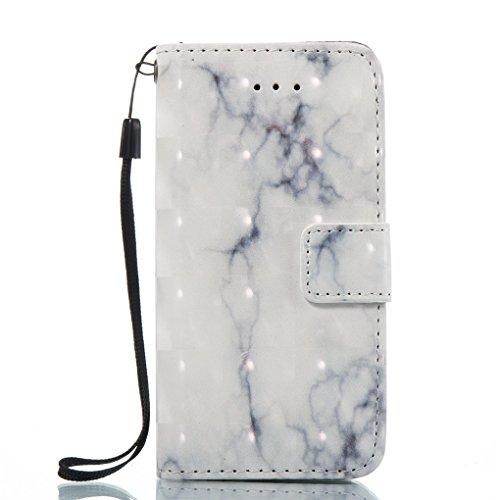 Apple iPhone SE 5 5S Hülle, SATURCASE Einzigartig 3D Stein Muster PU Lederhülle Ledertasche Magnetverschluss Flip Cover Brieftasche Case Handy Tasche Schutzhülle Handyhülle Hülle mit Standfunktion Kar Muster-1