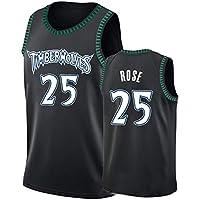 Sport-Jerseys Camiseta De Baloncesto, Timberwolves Nº 25, Nueva Camiseta De Baloncesto De