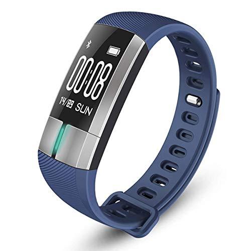 YSCYLY Fitness Tracker Aktivität Smart Watch IP67 Schwimmen Wasserdichte Sport Schrittzähler Alter Mann Herzfrequenz Blutdruckmessgerät,Blue