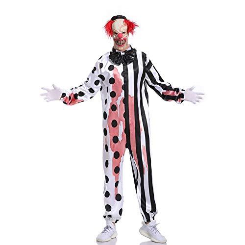 MEMIND Halloween kleidet Kettensäge Erwachsene Kostüme Maskerade böser Clown kleidet Terror blutigen Clown Spiel Anzug Cosplay Thema-Partei - Böse Alte Dame Kostüm
