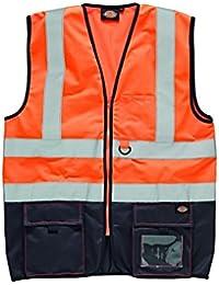 Dickies Two Tone Chaleco de seguridad, 4x l, naranja, sa22021
