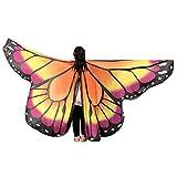 Vectry Halloween Cosplay Unisex Neuheit Feenhafte Nymphe Pixie Karneval Zubehör Weihnachten Cosplay Kostüm Zusatz Gedruckted Weiche Gewebe Schmetterlings Flügel Butterfly Cape Schal Wrap Kimono Poncho