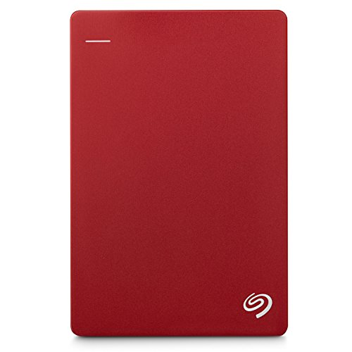 Seagate Backup Plus 4TB, rot, externe tragbare Festplatte inkl. Backup-Software, USB 3.0, PC & MAC & PS4  (STDR4000902)