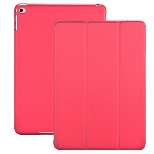 Cover iPad Mini 4 - KHOMO Custodia Rosa Scuro Doppia Smart Cover piú Back Cover Dual Case Ultra Sottile e Leggera con Supporto per il Nuovo Apple iPad MINI 4
