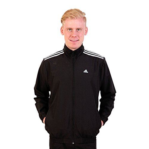 Adidas Black Polyester Track Jacket For Men