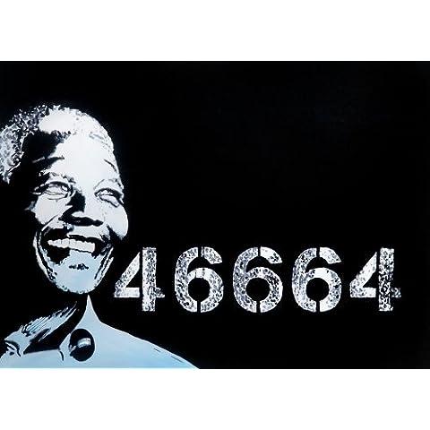 Nelson Mandela 30x 20Popart stile Concerto pittura a olio su tela ma Box Framing disponibili su richiesta, si prega di contattarci via email per dettagli. Molti Altri Musica, disponibile anche come qualsiasi dimensione Desideri. Robin Isola Inmate numero - Framing Olio Su Tela