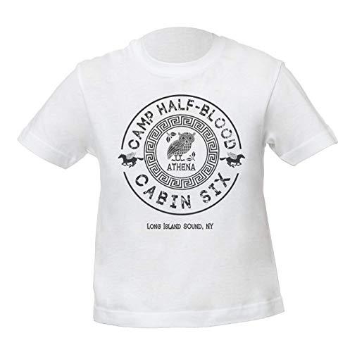 Cabin Six - Athena - Percy Jackson - Camp Half-Blood Unisex Jungen Mädchen Weiß T-Shirt Kids Boys Girls White Tshirt T Shirt Tee