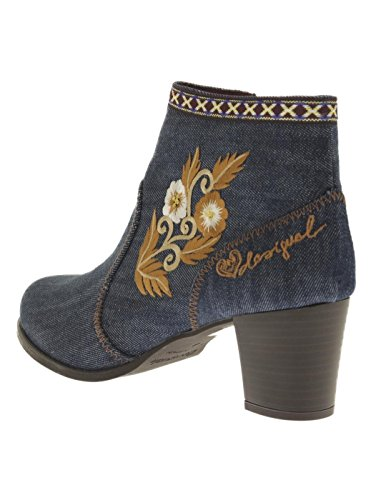 DESIGUAL Stivaletto Cris Exotic Blu Denim Blue