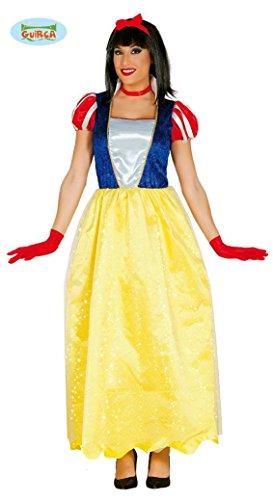 fasching kostueme damen maerchen langes Schneewittchen Kleid Karneval Fasching Party Kostüm für Damen Märchen Gr. M/L, Größe:L