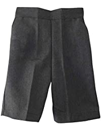 Boys School Shorts Pull Up Elasticated Black Grey Navy Teflon Age 3 4 5 6 7 8 9 10 11 12 (20 (Age 2-3 years), Black)