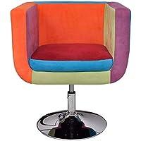 FAMIROSA Fauteuil Cube vidaXL Cube Fauteuil avec Tissu Design Patchwork