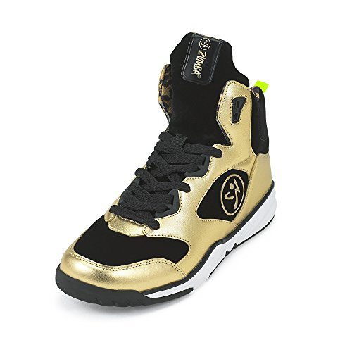 Zumba Footwear Damen Zumba Energy Boom Fitnessschuhe, Gold (Metallic Gold), 38.5 EU (7.5 US)