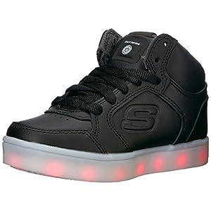 Skechers Energy Lights-Elate, Formatori Unisex-Bambini, Nero (Black), 31 EU