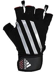 adidas Weightlifting Guantes de Pesas, Unisex Adulto,color: Negro con rojo, talla del manufacturier: S