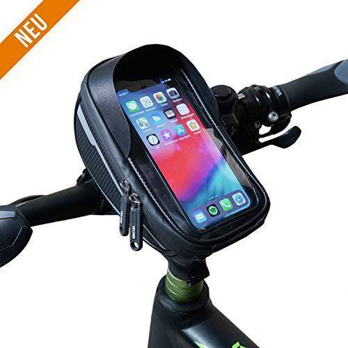 Fahrradtasche Lenker Handy - Fahrradtasche Handy wasserdicht - Fahrrad Handyhalterung mit Tasche - Fahrradlenkertasche Handy - Handy Tasche Fahrrad - Fahrrad Lenkertasche Handy - Rahmentaschen Handy