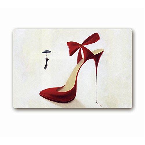 ailovyo Sexy High Heel Schuhe Prinzessin Girly Dinge Gummi Rutschfest Eintrag Way Fußmatte Outdoor Innen Decor Teppich Fußmatten, 60x 15.31-inch