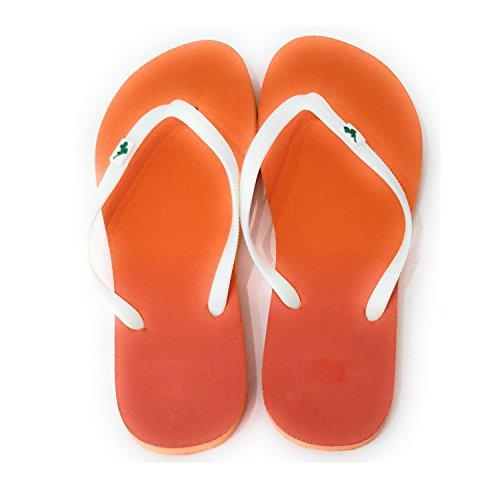 Chanclas de Mujer Piscina Playa Verano, Matiz Naranja T39