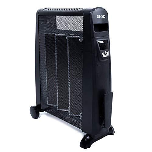 Duronic HV052 (Reacondicionado) Calefactor Radiador Eléctrico Bajo Consumo 1500W, Termostato Digital y Mando a Distancia, Paneles Calefactores Libre De Aceite