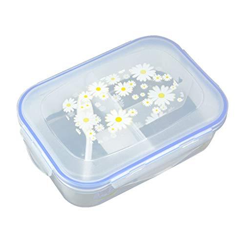 Provide The Best A Perfetta Tenuta di plastica Removble 3 Griglie della Scatola di Pranzo Picnic Contenitore di alimento 1100ml