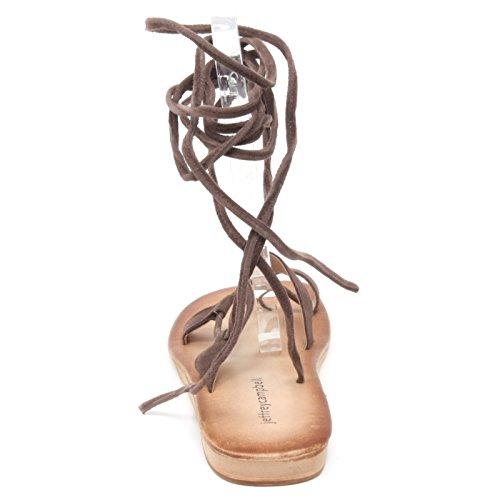B3050 infradito donna JEFFREY CAMPBELL VISTA SUE sandalo marrone shoe woman Marrone