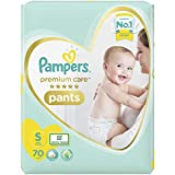 Pampers Premium Care Pants Diapers, Small, S 70 Count