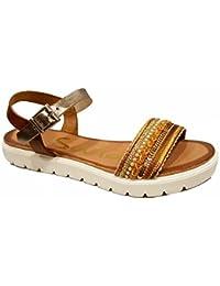 Oh my Sandals - Sandalias plana de mujer - Roble Combi - 3698