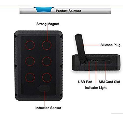 Hangang GPS Tracker, 120 Tage lange Standby GPS Ortung mit Magnet Keine Installation Echtzeit-Tracking Professioneller GPS-Sender Wasserdicht / Anti Lost / Free APP