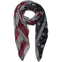 8fe8ac4f9b56 styleBREAKER design vintage USA motif drapeau écharpe, étoiles et rayures,  unisexe 01016084