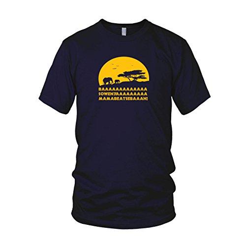 ren T-Shirt, Größe: M, dunkelblau (Pumba Und Timon Kostüme)