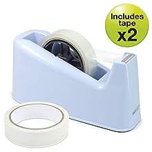Rapesco 1488 500 Heavy Duty Dispenser and 2 Tape Rolls - Powder Blue