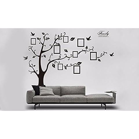 Ducomi™ Adesivi Murali - Shop adesivi da parete, wallstickers, vetrofanie, carta da parati, trompe l'oeil, Adesivi per bambini, decorazioni murali (Large family tree) - Family Tree Parete
