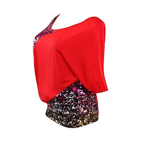 Poem&Future - Camicia - Collo a U  -  donna Red