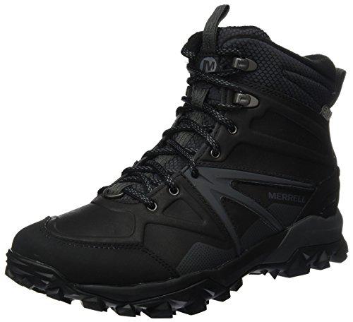 Merrell Capra Glacial Ice+ Mid Waterproof, Stivali da Escursionismo Alti Uomo Nero (Black)