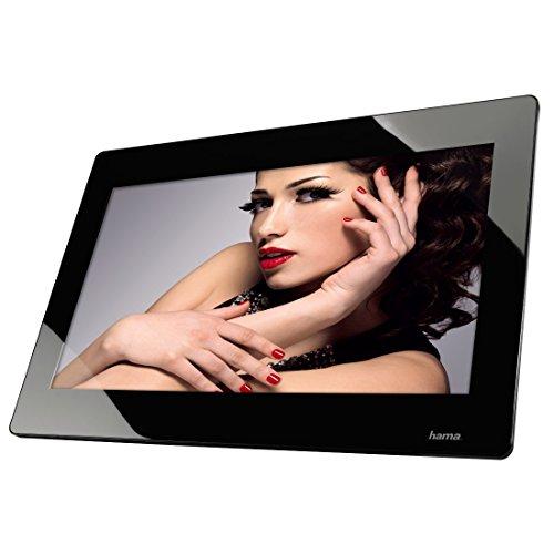 Hama Digitaler Bilderrahmen Slim mit Musik-/Video-Wiedergabe (47,0 cm (18,5 Zoll), HD, HDMI, USB, SD/SDHC/MMC-Kartenslot, MP3) mit Fernbedienung, schwarz