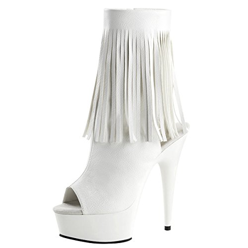 High Heels Stiefeletten, Damen, Weiss (weiss) Weiss (weiss)