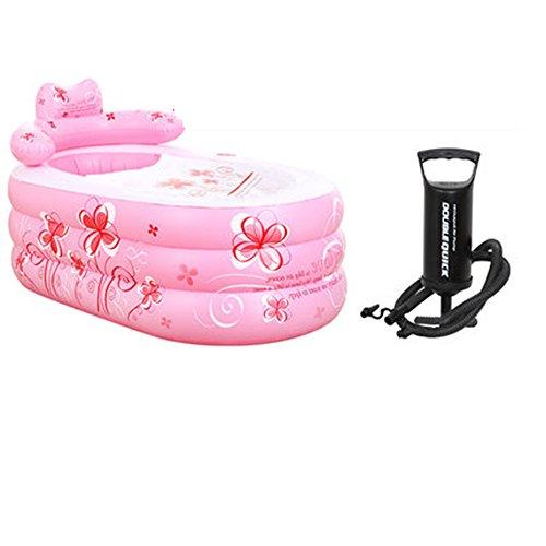Aufblasbare Badewanne Verdickte Wanne Schlauch Kunststoff Badewanne ( farbe : Pink )