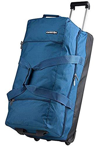 Reisetasche Trolley XL Blau 75x36x40 cm Doppeldecker mit Schuhfach Bowatex