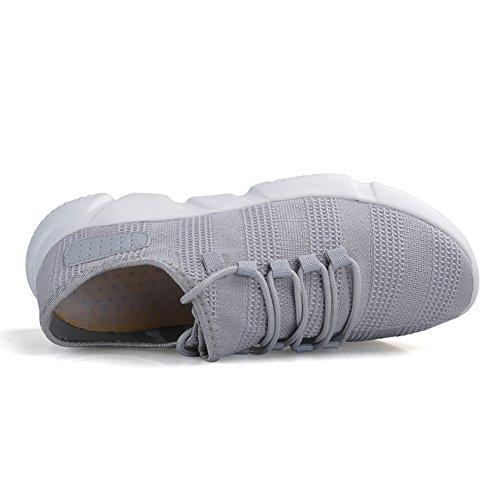 Madaleno Mens Sneakers Running Scarpe Sportive Sneakers Ultra Leggere Scarpe Da Ginnastica Traspiranti Con Lacci Scarpe Casual Grigie