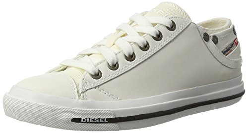 Diesel Damen Magnete Exposure IV Low W-Sneaker, Weiß (T1003-White), 38 EU (Sneaker Exposure Low)