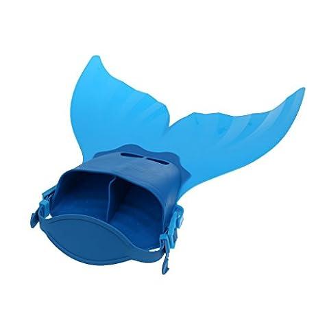MagiDeal Enfants Queue de Sirène Monopalme d'entraînement de Plongée Natation Pattes Nageoire Flipper - Bleu