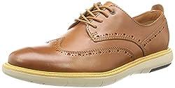 Clarks Mens Flexton Wing Beige Formal Shoes - 8 UK/India (42 EU)