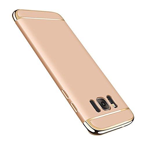 Dqueen-eur Galaxy S8 Hülle Case, 3-Teilige Extra Dünn Hart Slim Thin Hard Case Cover Stylich Hochwertig Schutzhülle Schale Handy Hülle für Samsung Galaxy S8 (Samsung Galaxy S8, Gold)