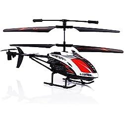 GPTOYS Helicóptero de Radiocontrol Remoto Infrarrojo G610 –Giroscopio Integrado - Estabilidad Aumentada - 3.5 Canales - Super Resistente a Los Golpes - Regalo perfecto de Navidad y Cumpleaños