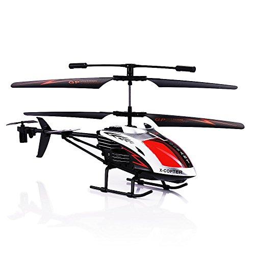 GPTOYS Ferngesteurter Helicopter RC Hubschrauber 3.5 Kanal, LED Leucht und Gyro-Technik