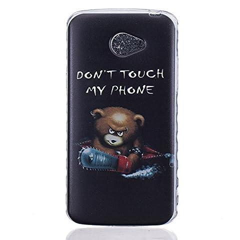 Etui LG K5, Coque LG K5, Cozy Hut® Angry Ours Pattern Etui Housse Téléphone Couverture de doux Plastique Coque pour LG K5 -