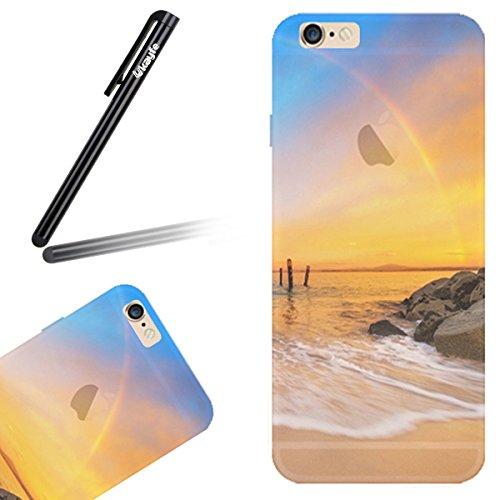 Coque Housse Etui pour iPhone 6s Plus, iPhone 6s Plus Coque de Protection en Silicone Etui Slim Transparent Housse, iPhone 6 Plus TPU Gel Coque Souple Etui Protecteur, iPhone 6 Plus/ 6s Plus Silicone  coucher du soleil