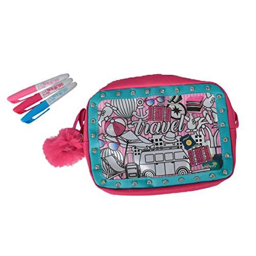 Simba 106374182 106374182-Color Me Mine Glitter Couture Travel Bag (Simba Stoff)