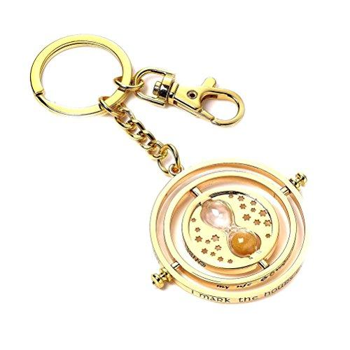 41wdx7wdV%2BL - Harry Potter Keychain Time Turner (silver plated) Carat Shop Portachiavi